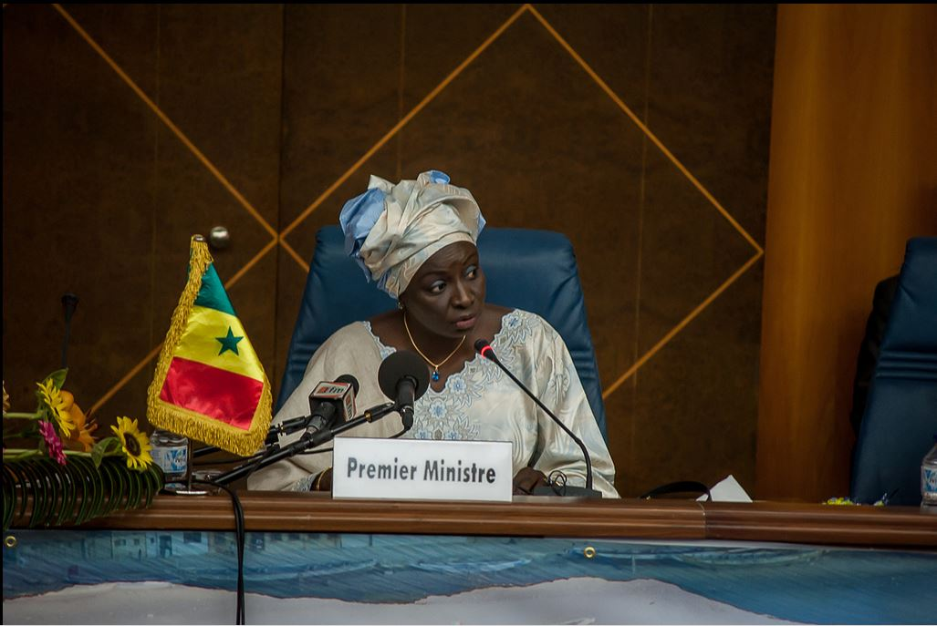 Senegalese prime minister opening the Forum