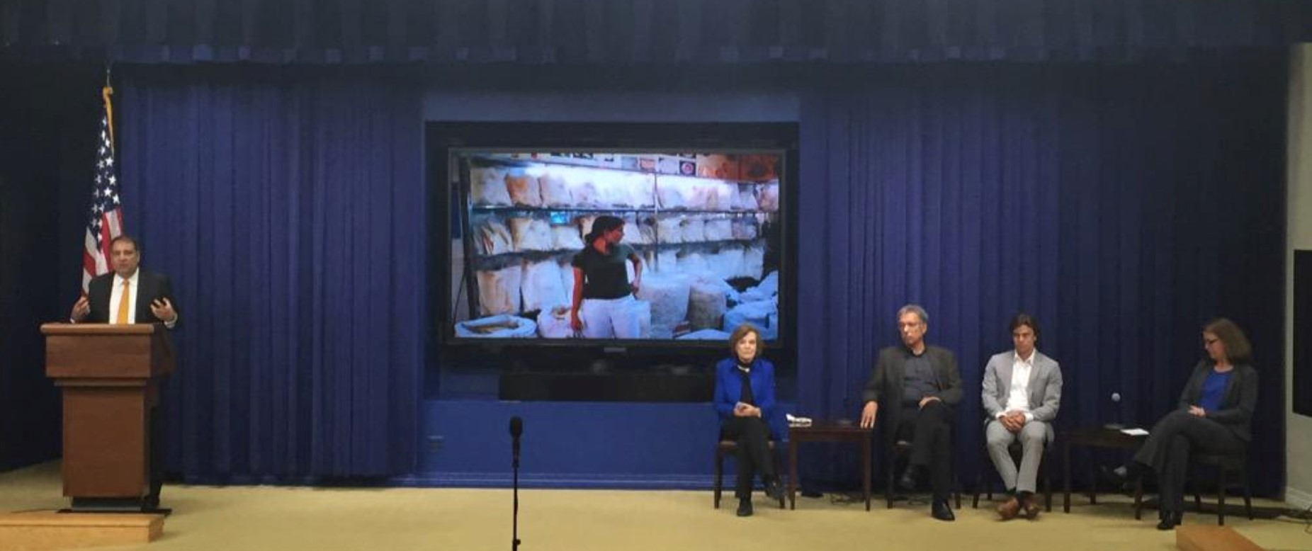 Dr. Daniel Pauly at a White House event on citizen science.